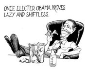 21st century political cartoon of Barack Obama