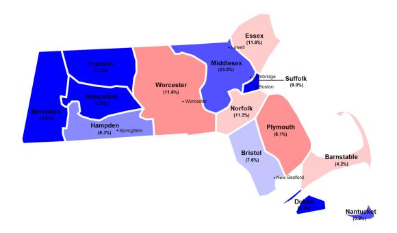 Massachusetts 2012 county results